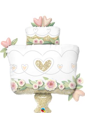 Globo foil boda Glitter Gold Wedding Cake