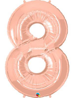 Globo forma numero ocho Rose Gold