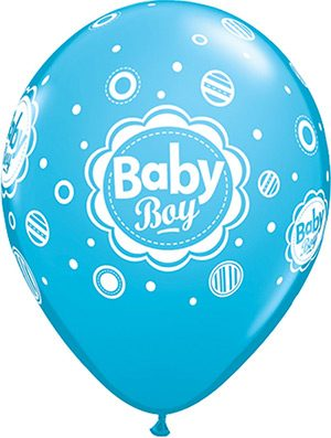 Globo látex Baby Boy Dots