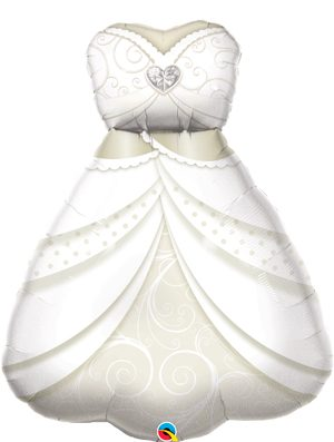 Globo foil traje novia boda Bride's Wedding Dress