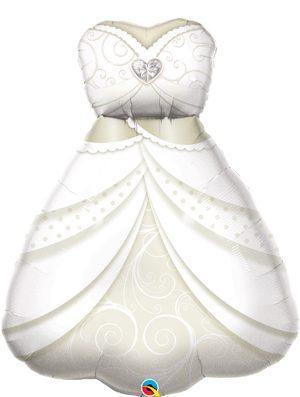 Globo foil traje novia boda Bride's Wedding Dress