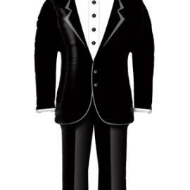 Globo foil traje novio boda Groom's Tuxedo