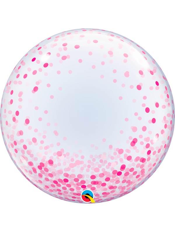Globo Deco Bubble Pink Confetti Dots