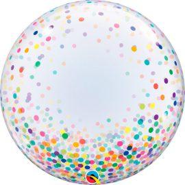 Globo Deco Bubble Blue Colourful Confetti Dots