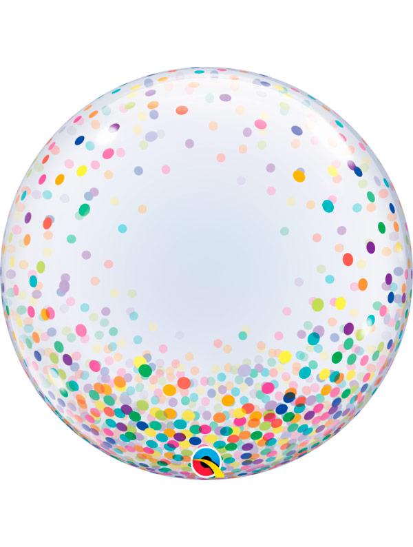 Globo Deco Bubble Colourful Confetti Dots