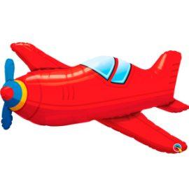 Globo foil Red Vintage Airplane