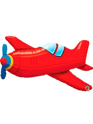 Globo foil Red Vintage Airplane