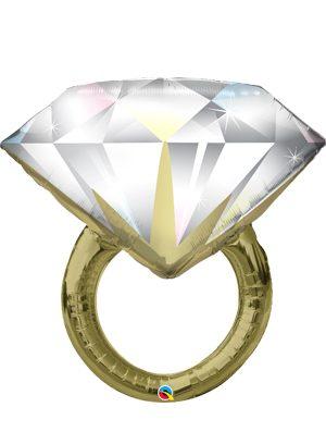 Globo foil anillo boda Diamond Wedding Ring