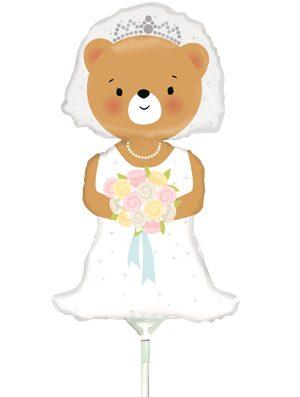 Globo foil novia boda Osito pequeño