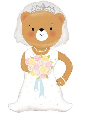 Globo foil novia boda Osito grande