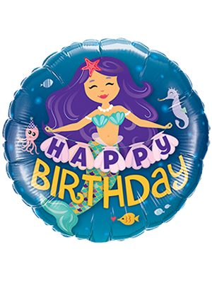 Globo foil Happy Birthday Mermaid 9""