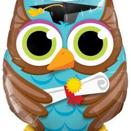 Globo foil Graduate Owl