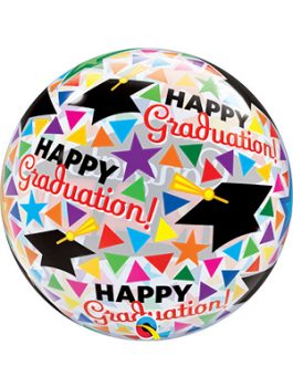 Globo Bubble Congrats Grad Caps&Triangles