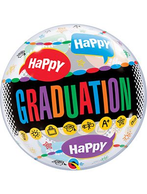 Globo Bubble Happy Graduation Congrats Grad