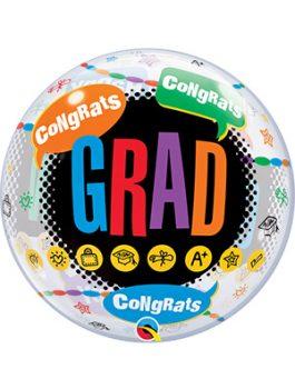 Globo Bubble Happy Graduation Congrats Grad