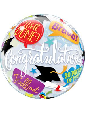 Globo Bubble Graduation Accolades