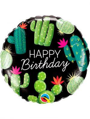 Globo foil Birthday Cactuses