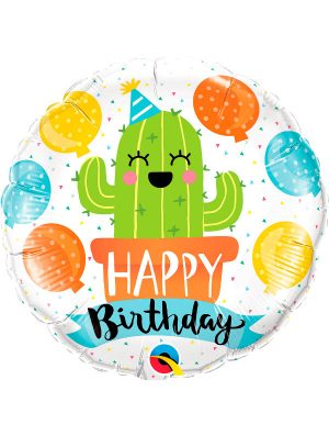 Globo foil Birthday Party Cactus