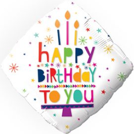 Globo foil rombo Happy Birthday to You
