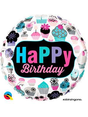 Globo foil Birthday Cupcakes Emblem