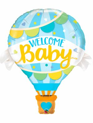 Globo foil Welcome Baby Blue Balloon