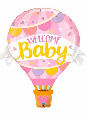 Globo foil Welcome Baby Pink Balloon