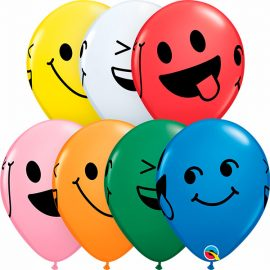 Globo látex Smiley Faces surtido