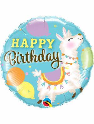 Globo foil Birthday Llama