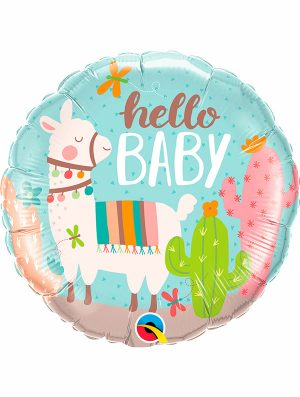 Globo foil Hello Baby LLama