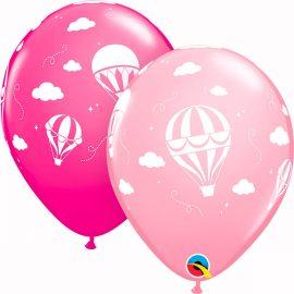 Globo látex Hot Air Balloons Pink & Wild Berry