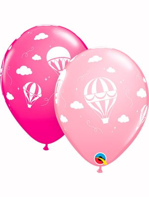 Globo látex Hot Air Balloons Pink & Wild Berry