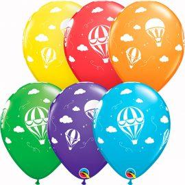 Globo látex Hot Air Balloons surtido