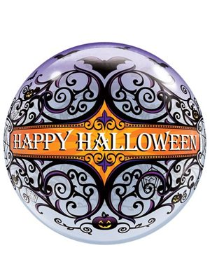 Globo Bubble Halloween Scroll & Bats