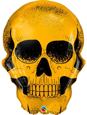 Globo foil calavera oro Golden Skull
