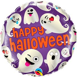 Globo foil fantasmas Halloween Emoticon Ghosts