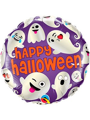 Globo foil fantasmas Halloween Emoticon Ghosts