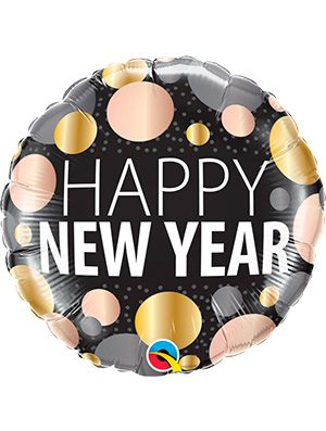 Globo foil New Year Metallic Dots