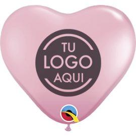 Globo látex Corazón 28cm impreso 1 cara 1 tinta