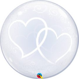 Globo Deco Bubble Entwined Hearts