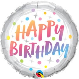 Globo foil Birthday Rainbow Dots