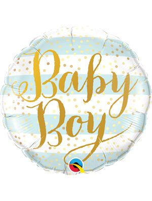 Globo foil Baby Boy Blue Stripes