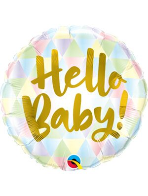 Globo foil Hello Baby!