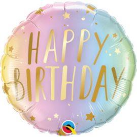 Globo foil Birthday Pastel Ombre & Stars
