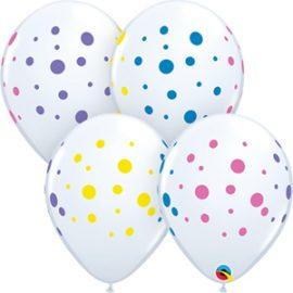 Globo látex Colourful Dots