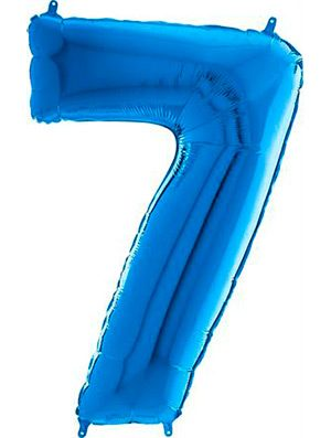 "Globo forma numero siete azul 26"""