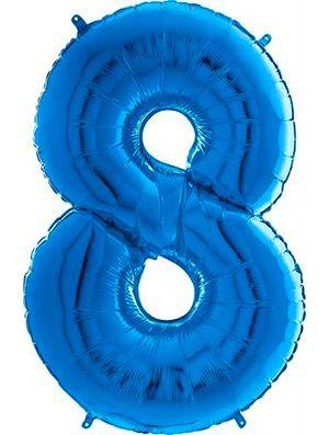 """Globo forma numero ocho azul 26"""""""