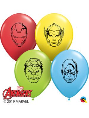 Globo látex MARVEL'S Avengers Faces surtido 5""