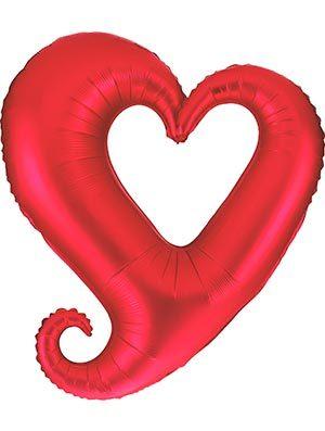 Globo Corazón Rojo Chain Hearts Forma 99cm