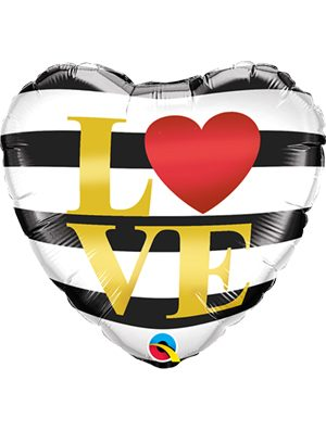 Globo foil LOVE Horizontal Stripes