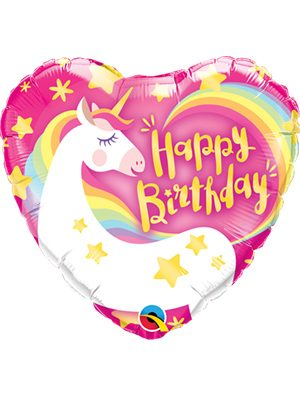 Globo foil Birthday Magical Unicorn